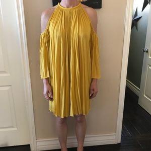 Rachel Zoe Nancy Open-Shoulder Mini Dress in Small